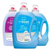 여니지니 드럼일반용 액체세탁세제 3.1L X2개 I 섬유유연제 블루라벤더 3.1L X1개