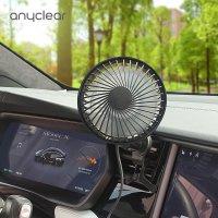 애니클리어 PDB-ACF30 차량용 송풍구 에어컨 거치 선풍기 각도조절 자동회전 LED 써큘레이터