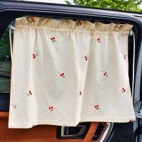 차량용 햇빛가리개 차박 차창문 커튼 뒷유리 자수 아기 유아 햇볕 햇빛 가리개
