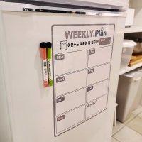 냉장고 붙이는 자석 주간 스케쥴 메모 보드