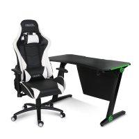카멜 LED조명 게이밍책상 의자 세트 GD1L+GC1 [모니터거치대증정]