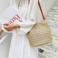 여자 핸드백 3컬러 밀집 라탄 숄더백 여성 기본 아이템 여행 데일리 데이트 캐쥬얼 가방
