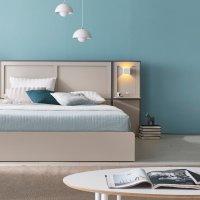 스칼렛 LED조명 평상형 호텔 하단수납 침대