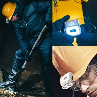크레모아 캡온 충전식 LED 캡라이트 모자랜턴 등산 캠핑 낚시