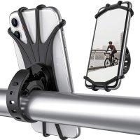 1+1 테테즈 실리콘 고무 자전거 핸들바 핸드폰 거치대 오토바이 유모차 거치 가능 360