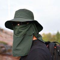 자외선차단 햇빛가리개 낚시 아웃도어 방수 여성 남성 메쉬 등산 비치 UV차단 모자 정글모