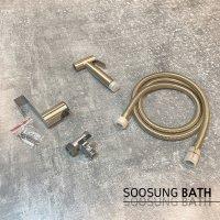 SUS304 화장실 욕실 무광 골드 스프레이건 청소건 변기 샤워기