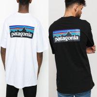 파타고니아 P-6 로고 리스폰 프린팅 여름 반팔 티셔츠