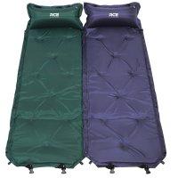 로티캠프 자충식 베개 일체형 캠핑 싱글 에어 매트 1인용