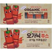 오가닉주스 유기농 사과&당근 주스 125ml X 18개