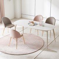프랑코 엠 12T 통 세라믹(포세린) 테이블 화이트 4인 6인 식탁