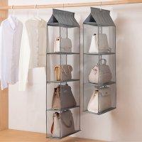 정리중독 가방 정리함 보관함 명품 핸드백 모자 수납함 옷장 붙박이장 드레스룸 수납 걸이형