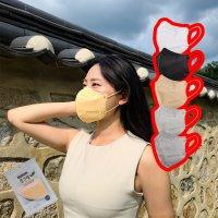 국산 말하고 숨쉬기 편한 새부리형 귀안아픈 띵커 풀그린 2D 마스크 100매입