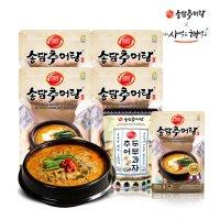 [송담] (4+1) 추어살로 만든 송담추어탕 500gx4팩+(추어두부과자 or 추어탕 선택1) / 보양식