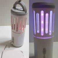 캠핑용 UV LED 포충기 전기모기채 휴대용