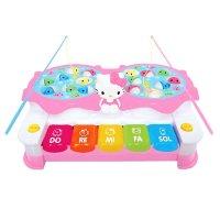 키티 피아노 낚시 놀이 ( 물고기 잡이 건반 장난감