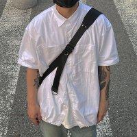 유일 썸머 오버핏 스트링 반팔 셔츠 남자여자 반팔 와이셔츠(2color)