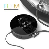 FLEM 차량용 타이어 공기주입기 디지털 공기압확인 터치센서 FTA300