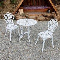 장미 주물 의자테이블 테라스 정원가구