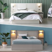 베디스 노블레스 호텔침대 LED조명 평상형 사이드확장형 침대프레임 모음전