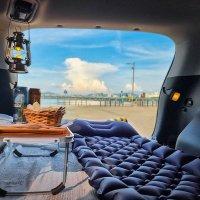 피넛 휴대용 차박 피크닉 캠핑 돗자리 1인 2인 에어매트 차량용 접이식 마약 매트리스