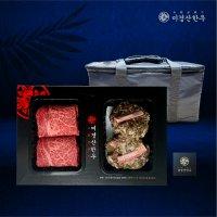 미경산한우 1+등급 등심•떡갈비 1kg선물세트