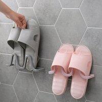 부착식 심플 신발 욕실화 걸이 거치대 2개입