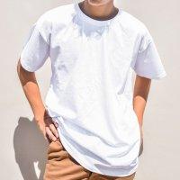 무지 반팔 티셔츠 흰티 면티 남자오버핏 레이어드 로고인쇄 남여공용