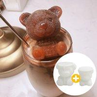 엄마곰 아기곰 얼음틀 2개세트 아이스트레이 홈카페 메이커 무독성 실리콘 큐브라떼