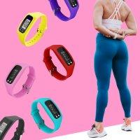 만보기 시계 손목 만보계 건강 팔찌 실리콘 칼로리 운동