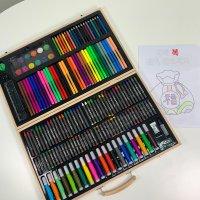 초등학생 선물 어린이 미술도구 미술 색연필 싸인펜 크레용 컬러링 세트 180 색칠공부