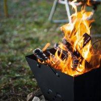 레토 불멍 캠핑 화로대 접이식 바베큐 그릴 숯불 LCP-FB01