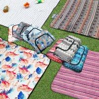 하이나미 파우치 피크닉매트 돗자리 특대형 감성 방수 코튼 에스닉 야외 비치 차박 캠핑