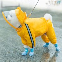 강아지 우비 방수 마우스 레인코트