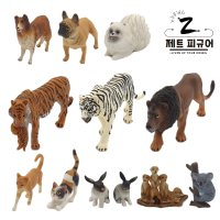 제트 52종 동물 피규어 장난감 모형 농장 반려동물 강아지 고양이 호랑이 사자
