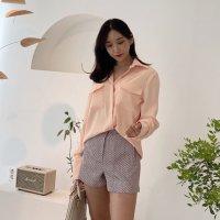 클래식 여리여리 하이퀄리티 출근룩 하객룩 세련된 구김적은 고급스러운 포켓 블라우스 셔츠