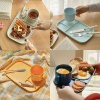 어반스튜디오 멜라민 피크닉 나눔 접시 컵 세트 플레이팅 그릇