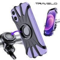 트레벨로 로테이터블 360 실리콘 자전거 스마트폰 거치대