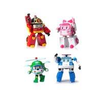 로보카폴리 변신로봇 4인치 4종팩 세트 (4인치 폴리 로이 엠버 헬리) 로보카폴리세트 로봇장난감 자동차장난감 조카선물