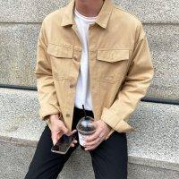 빅사이즈 남자 트러커 자켓/봄 가을 오버핏 루즈핏 간절기 아우터 2xl 3xl 숏자켓