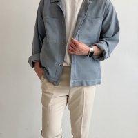 남자 간절기 포켓 워싱 트러커 자켓 5컬러 봄 가을 아우터 코디