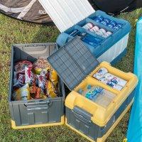 캠핑 폴딩박스 차량용 미니 아이스박스 트렁크 카니발 캠핑용 테이블
