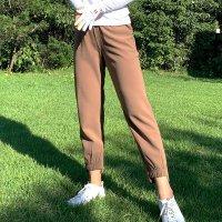 여성 골프바지 간절기 기모 밴딩 조거 팬츠 연습복 블랙 브라운 골프복 빅사이즈