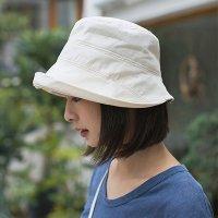 코튼 챙넓은 여성 벙거지 모자 버킷햇 보닛햇 (2color)