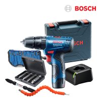 보쉬 10.8V 충전 해머 전동드릴 GSB120-LI 1배터리+소재12P+추가3종