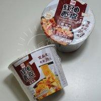 1+1 간편 즉석 중국 라면 튀기지않은 건면 비빔면 쏸라맛 량피면 컵라면 115g