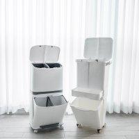 재활용 쓰레기 분리배출을 위한 가정용 대용량 분리수거함 2단 3단