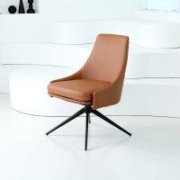 주디 가죽 인테리어 디자인 편안한 식탁 회전 의자 체어 카멜