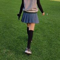 가을 겨울 여성 골프치마 플리츠 주름 스커트 A라인 88까지 하운드 체크 치마바지 큐롯