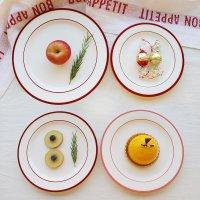 카리노웨이 도자기 플레이트 예쁜 디저트 접시 브런치 스테이크 그릇